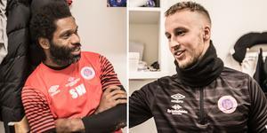 Samuel Wowoah (till vänster) och Jonathan Ederström (till höger) fortsätter på Karlslunds tränarbänk.