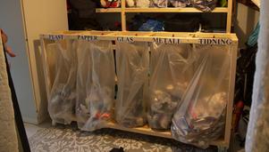 Familjen har använt återvinningsstationen i ett år.