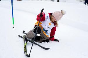 – Jag har lärt mig att svänga i uppförsbacke, säger Ingrid Landén som är van längdskidåkare.