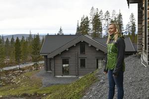 Frida Hansdotter kommer att bygga sin egen fjällstuga i det här området, överst på Idre Himmelfjälls tomtområde.
