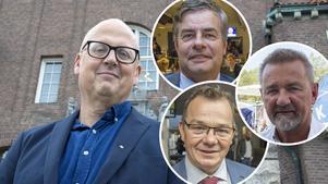 Bosse Svensson (C), Pär Jönsson (M), Pär Löfstrand (L) och Stephen Jerand (KD).
