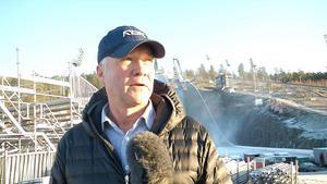 Falu BS ställföreträdande ordförande, Hans-Olov Pettersson, är positiv, trots alla utmaningar som väntar vid ett avancemang. Foto: Martin Trygg