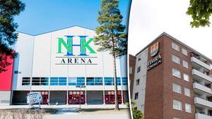 Ewa Lindstrand och Jan-Christer Jonsson svarar en tidigare insändarskribent om Timrå IK och NHK Arena. Bilder: Eric Westlund / Lars Windh