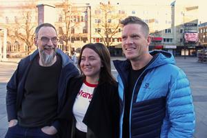 Mikael Brun Gunnerås, Amanda Örtenhag och Mikael Olsson är Mendy.