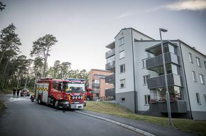 Branden var på bergskullen ovanför Övre Villagatan.