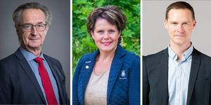 Tomas Högström (M), Jenny Landernäs (M) och Mikael Andersson Elfgren (M) är oppositionsråd i Region Västmanland.