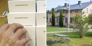 Besked om folkomröstningen från P7 i Arboga i det öppna brevet: Om tillräckligt många deltar och om utslaget är att Medåkers skola ska vara kvar, så öppnas skolan igen trots stängningsbeslutet i fullmäktige.Foton: Fredrik Sandberg/ TT och Alexandra Edman
