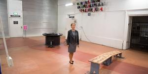"""Temat för den nya utställningen på Tom Tits experiments entréplan är """"kraft och rörelse"""". I utrymmet där låsbara skåp tidigare stått är det just nu lite tomt i väntan på nya experiment."""
