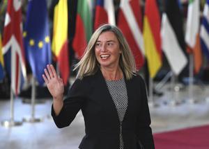 Federica Mogherini, EU:s höga representant för utrikes- och säkerhetsfrågor säger att  kulturen är ett kraftfullt medel för att bygga broar mellan människor. /FOTO: Riccardo Pareggiani