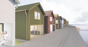 Karin Elfving ville veta varför tomterna fick lov att vara 90 kvadratmeter.(Bild: Arkitekt Mariana Nordlander , Villa Grön)
