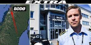 Knut Waldemar Solli, chef vid lokala polisen i Bodö. Bild: Alexander Kjønsø Karlsen/AN, Grafik: Robin Brinck