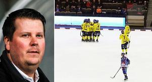 Zocke skriver i veckans kröinka om fredagens stora skräll – kvartersklubben Tellus seger mot storlaget Villa Lidköping.  Bild: Rikard Bäckman / Bandyplay.