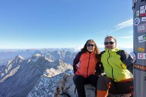 På toppen av Zugspitze, Tysklands högsta berg. (Privat bild)