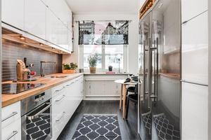 Denna bostadsrätt på Åsgatan 46A  i centrala Falun hamnade på sjunde plats bland Dalarnas mest klickade fastigheter under vecka 3. Foto: Kristofer Skog