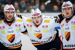 Erik Walli Walterholm skadade sig i samband med en match mot Färjestad 2 november. Bild: Fredrik Karlsson/Bildbyrån