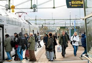 Tågstationen i Hallsberg. Arkivbild: NA.