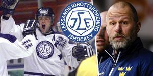 Åkerblom spelade tio säsonger, 90-00, i Leksand. Säsongen 17/18 fick han testa på jobbet som huvudtränare. Foto: TT//Bildbyrån.