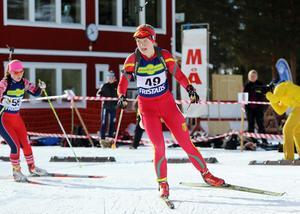 Johanna Grip är en av Svegs mest lovande skidskyttar.