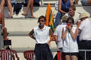 Eva Westman, meriterad tävlingsledare för Öviksracet, berömmer arrangörsklubbens breda verksamhet. Foto: PRIVAT