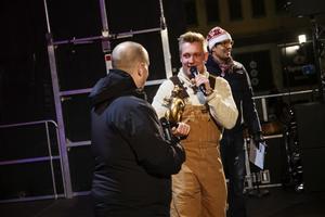 Härnösands kommunalråd Andreas Sjölander (S) var på plats för att hylla Gotte och för att överlämna ett pris.