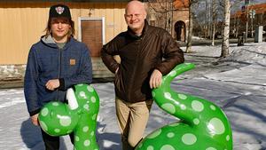 Centrumutvecklare Calle Hedman, tillsammans med destinationschefen Martin Sahlberg, på Destination Östersund.