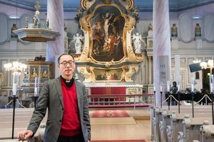Kyrkoherden Peter Persman ser fram emot att få ett mer flexibelt kyrkorum i Själevads kyrka.