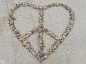 Hjärtat säger Nej till kärnvapen. Foto: Annica Ericson