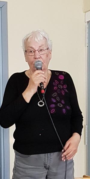 Ann Marie berättade och visade film från resan.