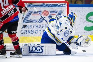 Bild: Bildbyrån. Luleå gör mål med en man mindre.