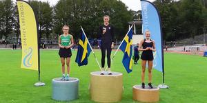Från vänster: Wilma Marcusson, Trångsvikens IF, Elin Brink, Mölndals AIK  och Hanna Bergström Huddinge AIS Foto: Privat