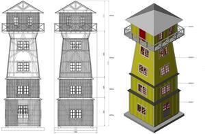 Så här kommer tornet i Myre att se ut.Illustration: Håkan Zaar