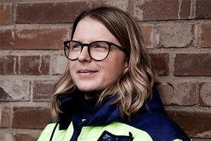 Sandra Mickelsson är chef ljusbågsugnen på Outokumpu i Avesta.