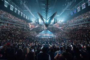 Jay-Z under en spelning i New York, för ungefär tre veckor sedan. Ett hav av mobiler.