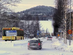 Gränsgatan har i dag öppen sikt hela vägen ut mot Frösön från båda körfälten. Något länsstyrelsen vill behålla inför andra byggetappen av Storsjö Strand.