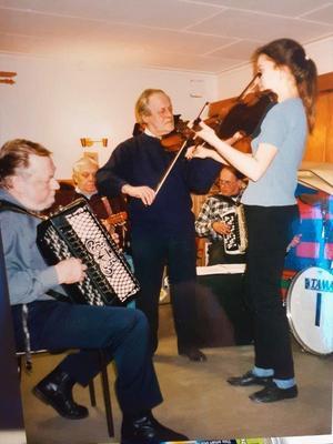 Det var trevligt när musikanterna träffades. Foto: Max Möllerfält