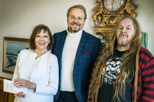 Lill Lindfors, Fredrik Lindström och Mattias Alkberg i SVT-serien