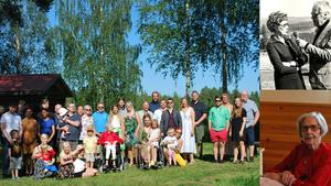 Ett trettiotal barn, barnbarn och barnbarnsbarn firade Britt Säterberg.
