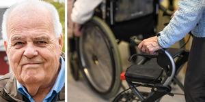 Inge Larsson (C) gläds åt att det nya äldreboendet på Dynabacken har tagit ytterligare ett steg framåt. Foto: Magnus Östin och TT/arkiv