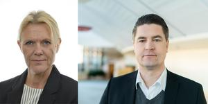 Riksdagsledamöterna Ann-Christine from Utterstedt (SD) och Oscar Sjöstedt (SD).
