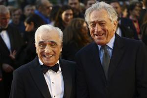 Giganterna Martin Scorsese och Robert De Niro har gjort filmer ihop sedan 1973.  Foto: Joel C Ryan/Invision/AP