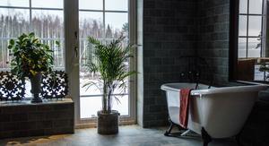 Ett badrum med utsikt.