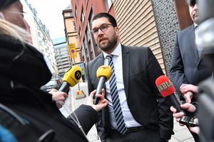 SD:s partiledare levererade ett citat i Sveriges Radio som fått många att tappa hakan – även om vi redan visste var han stod. Foto: Jonas Ekströmer / TT