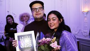 Bandet Den Allvarsamma Leken med Joel Malmström och Charlotte Mendonca Jonsson från Sandviken blev Årets band och Årets Nykomling på Local Heroes-galan.
