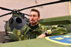 Tim, officer och helikopterpilot inom Försvarsmakten, gästade Mora.