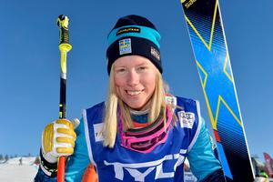 Sandra Näslund i solsken i Idre, frågan är om solen skiner över Montafon i morgon och Sandra kan köra hem sin tredje seger i årets världscup.