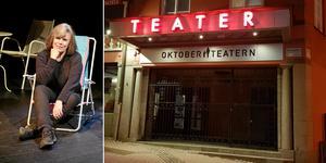 Ninne Olsson (bilden) är konstnärlig ledare för Oktoberteatern. Johanna Lindell är styrelseordförande.