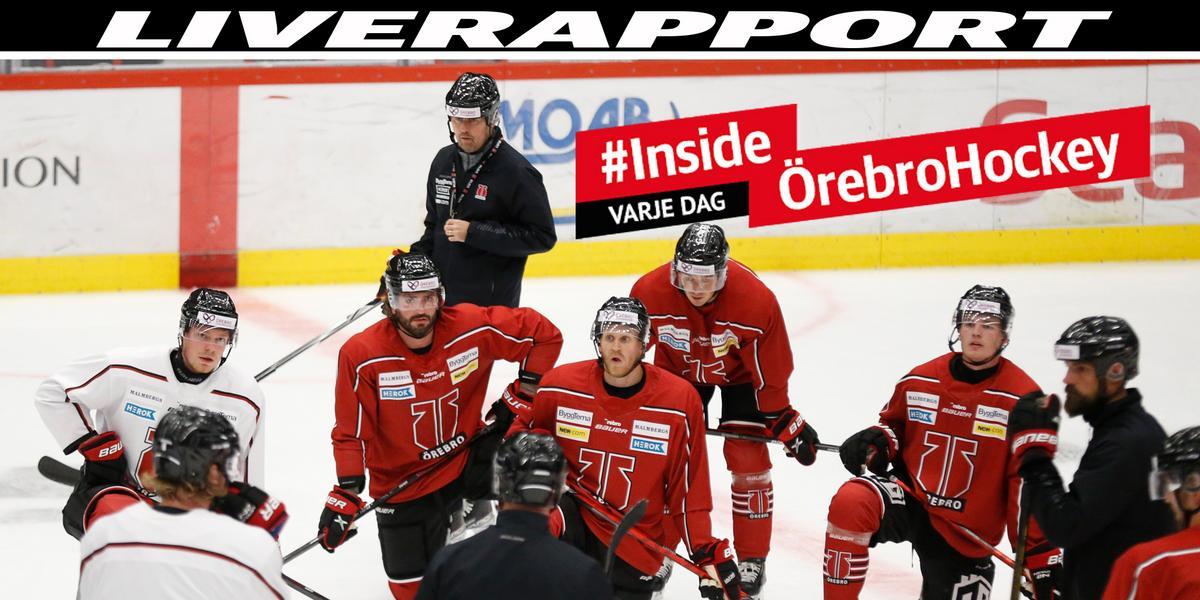 Efter poängen i Växjö – provspelaren saknades: så var Örebro Hockeys träning
