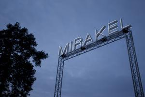 Konstverket Mirakel kunde beskådas på Gärdeåsen i december 2016.