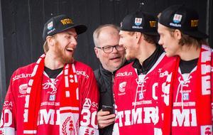 Henrik Haukeland, Kent Norberg, Hampus Larsson och Didrik Strömberg. Bild: Pär Olert/Bildbyrån