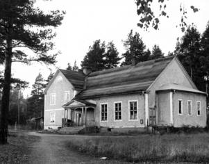 Gamla Folkets hus byggdes 1927. 1962, då bilden är tagen, skulle huset renoveras och byggas om för att stå till förfogande för en skinnsömnadsindustri som ville slå sig ned i Bräcke.